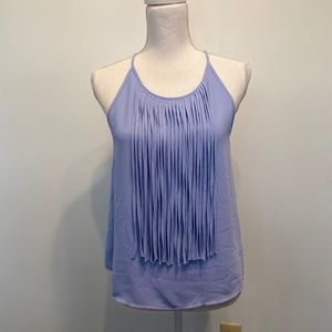 Tank top with fringe tassels